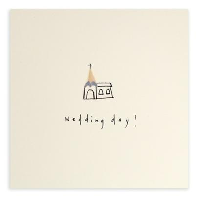 Wedding Day Pencil Shavings Greeting Card | Wedding Day Cards