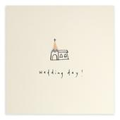 Wedding Day Pencil Shavings Greetings Card