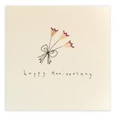 Happy Anniversary Pencil Shavings Greetings Card