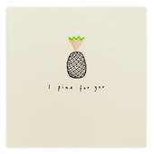I Pine For You Missing You Pencil Shavings Greetings Card