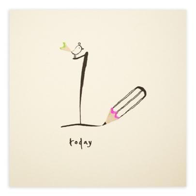 1 Today Pencil Shavings Girls 1st Birthday Card