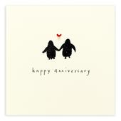 Happy Anniversary Penguin Pencil Shavings Greetings Card