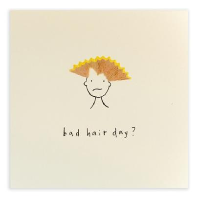 Bad Hair Day Pencil Shavings Blank Greeting Card