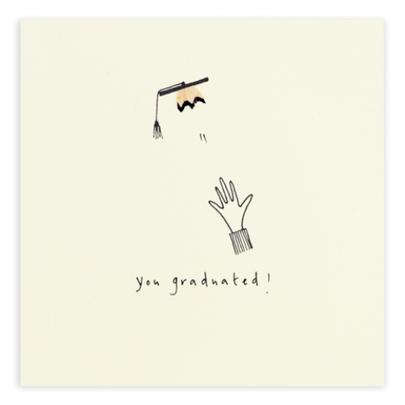 You Graduated Pencil Shavings Greetings Card