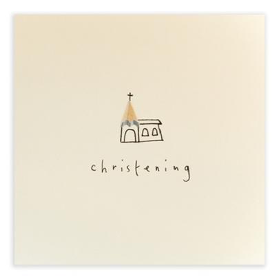 Christening Pencil Shavings Greetings Card
