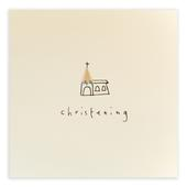 Christening Pencil Shavings Greetings Card