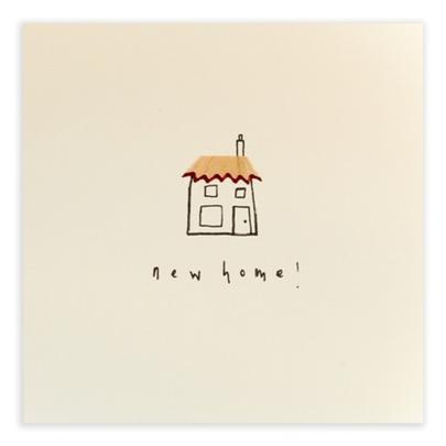 New Home Pencil Shavings Greetings Card