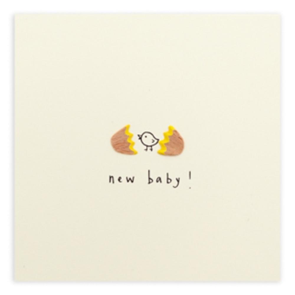 New Baby Pencil Shavings Greetings Card