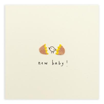 New Baby Pencil Shavings Greetings Card