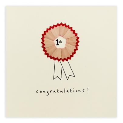 1st Congratulations Pencil Shavings Greetings Card