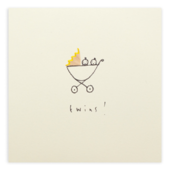 New Baby Twins Pencil Shavings Greetings Card