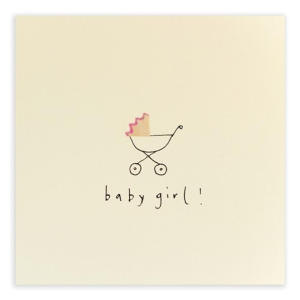 New Baby Girl Pencil Shavings Greetings Card
