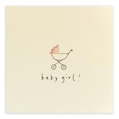 New Baby Girl Pencil Shavings Greetings Card