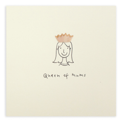 Queen Of Mums Pencil Shavings Mother's Day Greeting Card