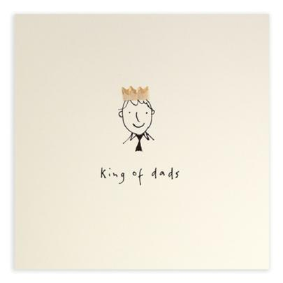King Of Dads Pencil Shavings Father's Day Greeting Card