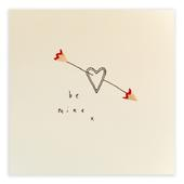 Be Mine Pencil Shavings Valentine's Day Greetings Card