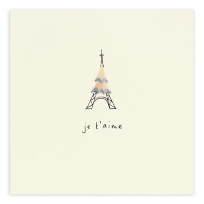 Je T'aime Pencil Shavings Valentine's Day Greetings Card