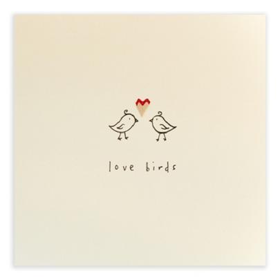 Love Birds Pencil Shavings Blank Greeting Card