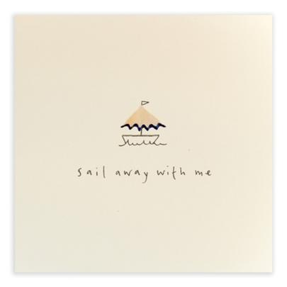 Sail Away With Me Pencil Shavings Blank Greeting Card