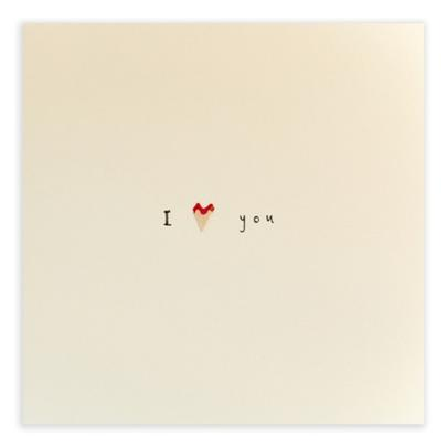 I Love You Pencil Shavings Blank Greeting Card