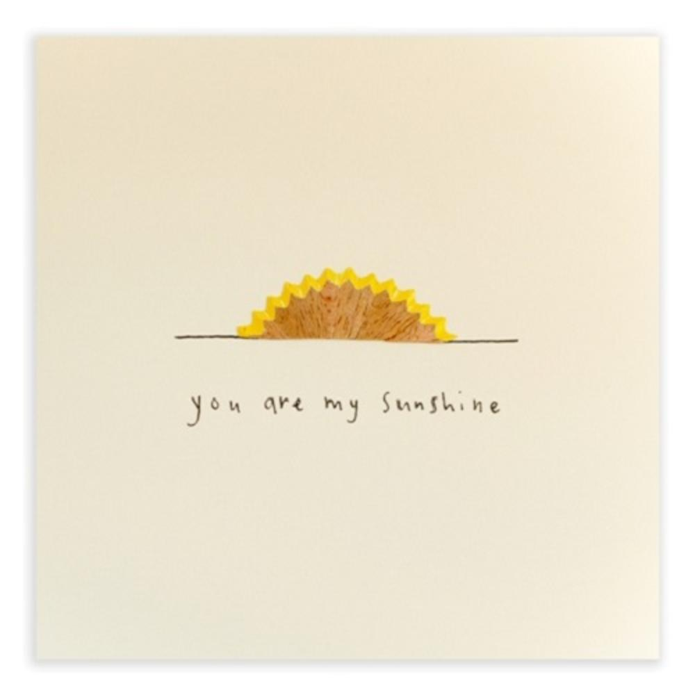 You Are My Sunshine Pencil Shavings Blank Greeting Card