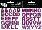 Upper Case Letters A-Z Pink Stick-On DIY Greeting Card Toppers