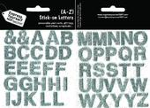 Upper Case Letters A-Z Silver Stick-On DIY Greeting Card Toppers
