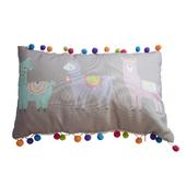 Llama Cushion With Pom Poms