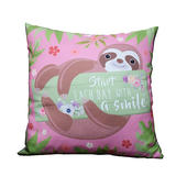 Sloth Start Each Day With A Smile Cushion