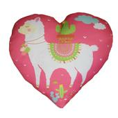 Llama Cushion Pink Heart Shaped