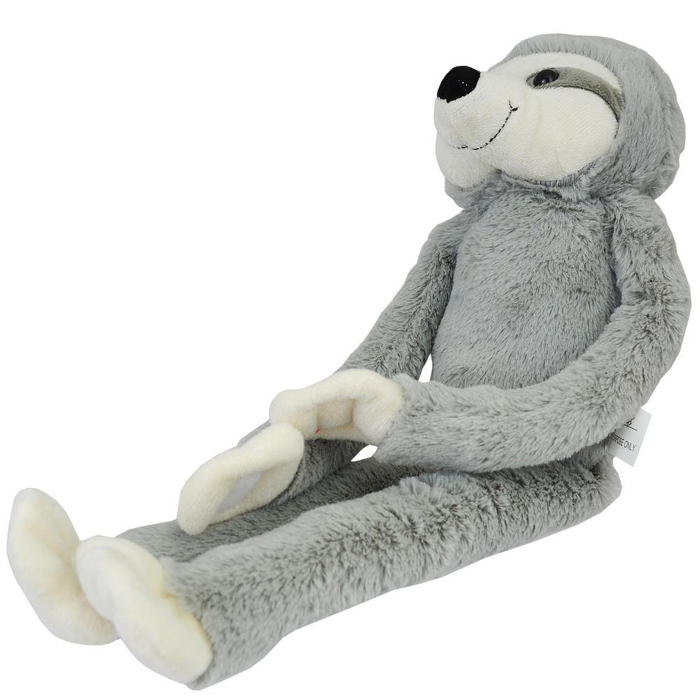 Grey Hanging Sloth Plush Toy