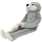 Grey Hanging Sloth Plush Toy