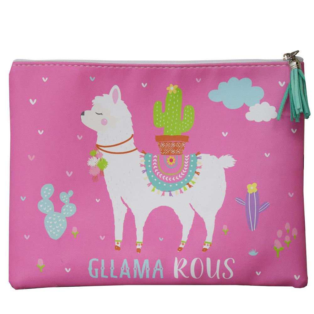 Llama Bag Pink Gllama rous Multi Purpose Pouch