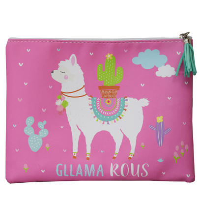 Llama Bag Pink Gllama rous Multi Purpose Pouch