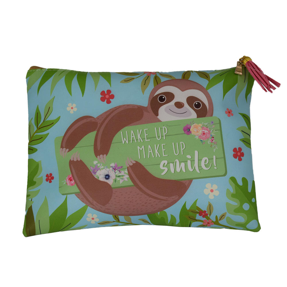 Sloth Bag Wake Up Make Up Smile Multi Purpose Pouch