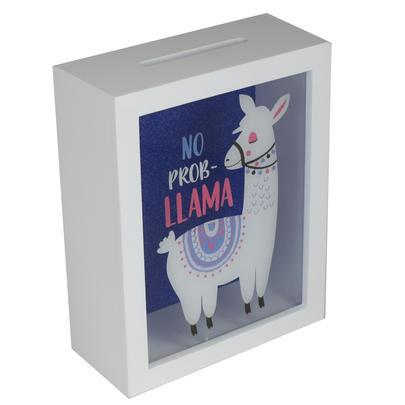 No Prob Llama Wooden Money Box