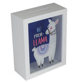 No Prob Llama Wooden Money Box