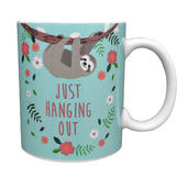 Sloth Just Hanging Out Ceramic Mug Gift