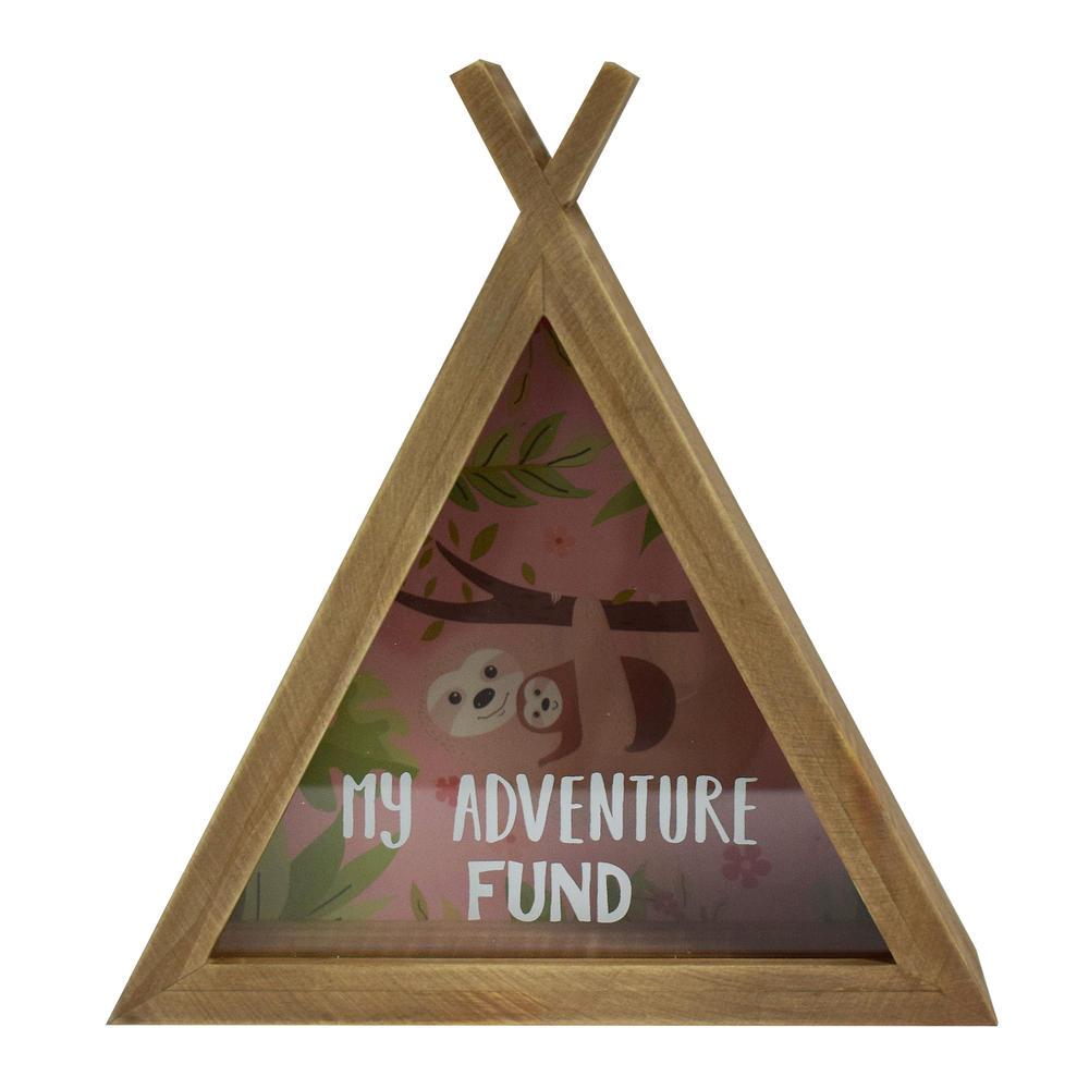 Sloth My Adventure Fund Wooden Money Box