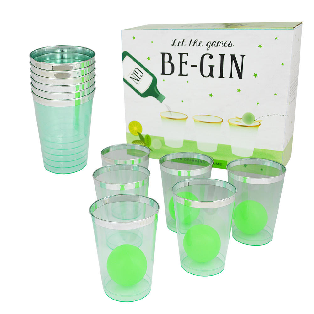 Gin Game Let the Games Be-Gin Gin Ping Pong Drinking Game