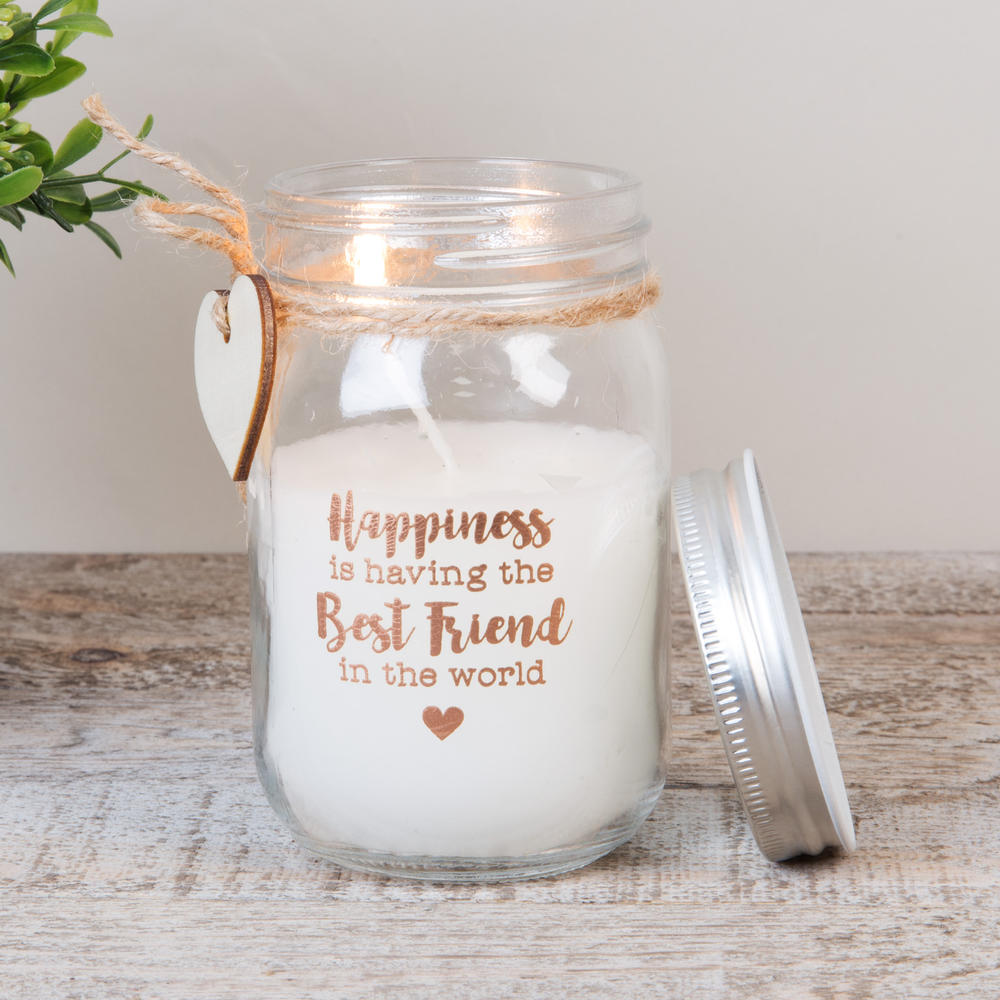 Best Friend Scented Candle In Mason Jar Lovely Gift