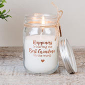 Best Grandma Scented Candle In Mason Jar Lovely Gift