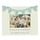 "Love Life Family Bunting Wooden 6"" X 4"" Photo Frame"