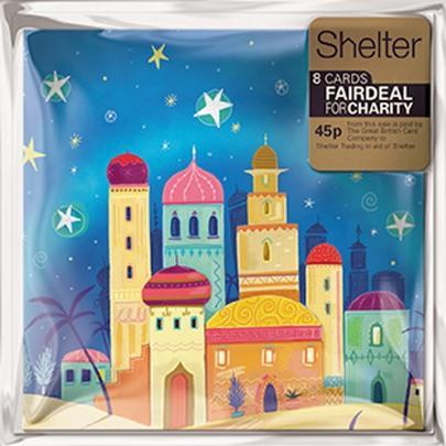 Pack of 8 Bethlehem Shelter Charity Christmas Cards