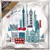 Pack of 8 Santa Over London ABF Soldier's Fairdeal Charity Christmas Cards