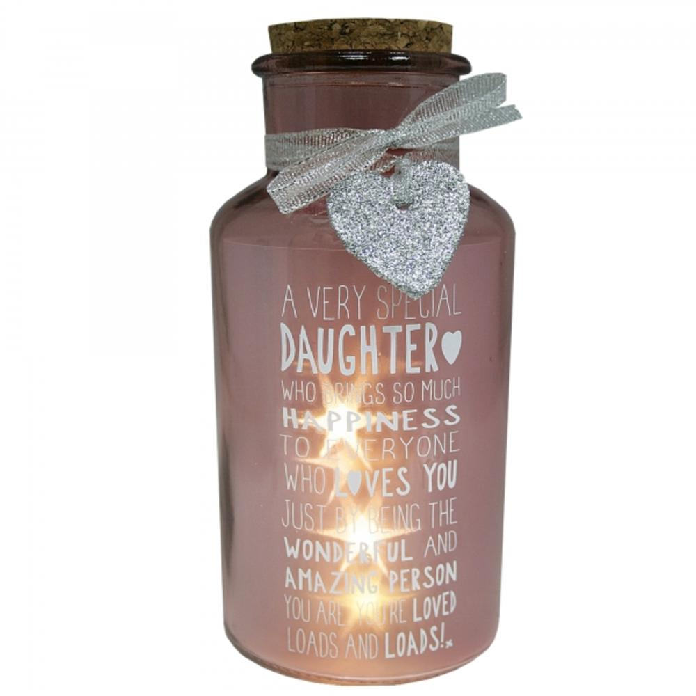 Special Daughter Light Up Jar Messages Of Love Gift