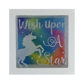 Unicorn Wish Upon A Star Wooden Money Box