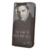 Elvis Presley King Of Rock & Roll Zip Around Purse