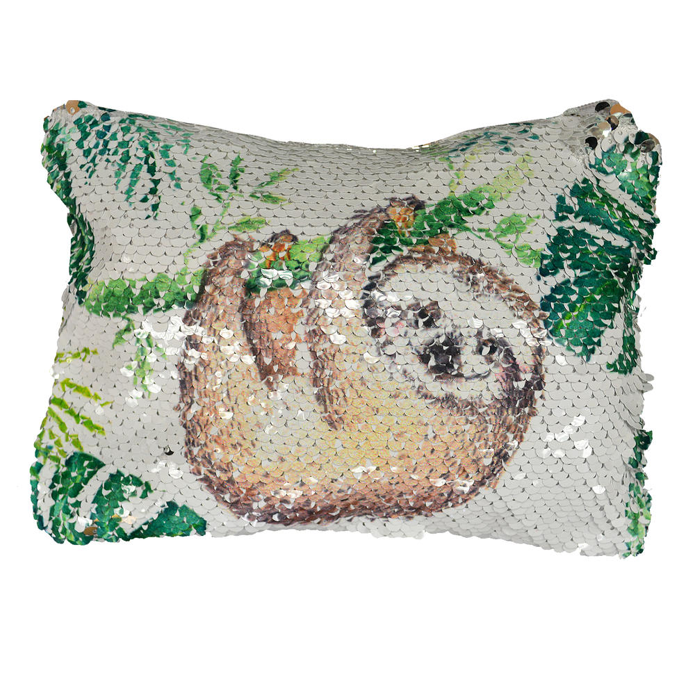 Reversible Sequin Sloth Cosmetic Bag
