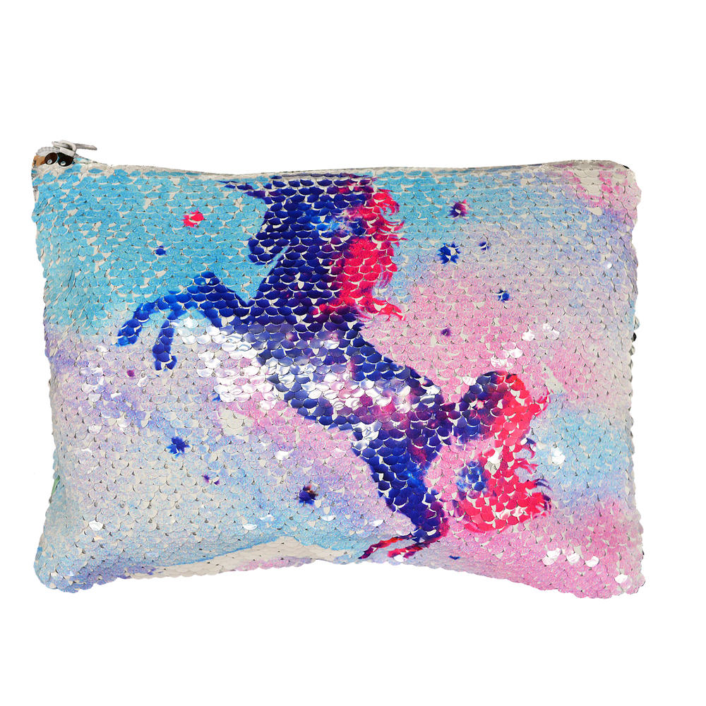 Reversible Sequin Unicorn Cosmetic Bag